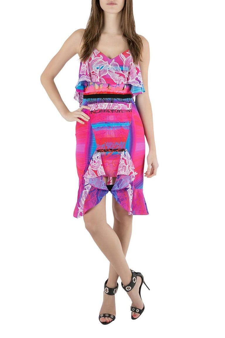 This Cascade Dress by Peter Pilotto is tailored from smooth silk. It features cutout embroidery and orchid print. The sleeveless dress is a great piece to add something unique to your collection. Team it with sandals in a low tied bun.  Includes: