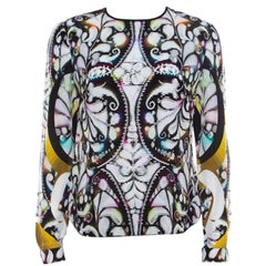 Peter Pilotto Multicolor Paisley Print Silk Long Sleeve Blouse S