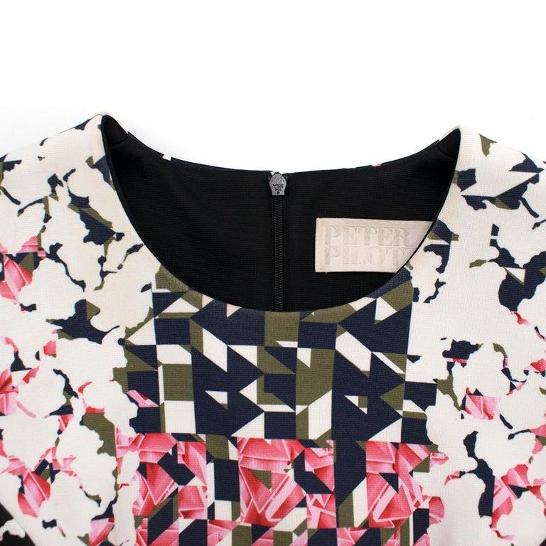 Women's Peter Pilotto Pattern Shift Dress SIZE 8 UK For Sale