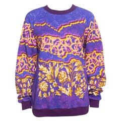 Peter Pilotto Ruc Purple Printed Sweatshirt L