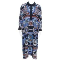 Peter Pilotto Silk Digital Abstract Printed Kaftan Maxi Dress ( One Size )