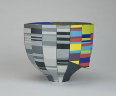 """Double Walled Skirted Bowl"", Contemporary, Porcelain, Sculpture, Geometric"