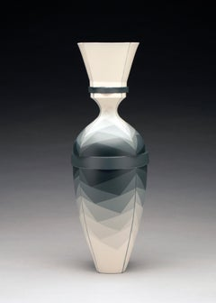"""Gradient Vase"", Contemporary, Design, Porcelain, Sculpture, Geometric, Pattern"