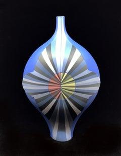 """""""Requiem for a Circle, Blue"""", Contemporary, Ceramic, Sculpture, Design"""