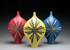 Requiem for a Circle, Contemporary Colored Porcelain Sculpture, Abstract Ceramic