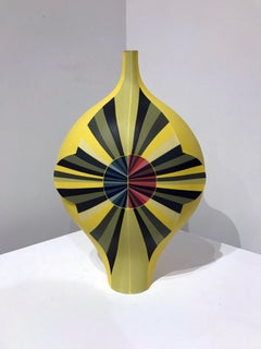 """Requiem for a Circle, Yellow"", Contemporary, Ceramic, Sculpture, Design"