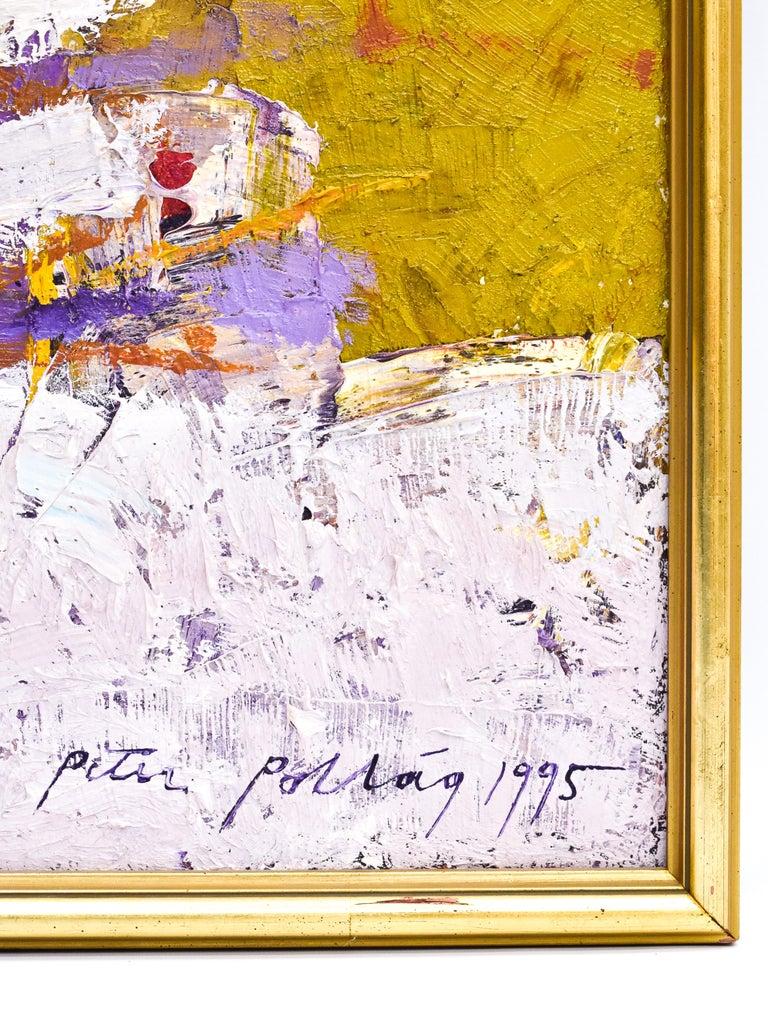 Preteky s Pegasom - Triptych- Peter Pollág - Original artwork For Sale 8