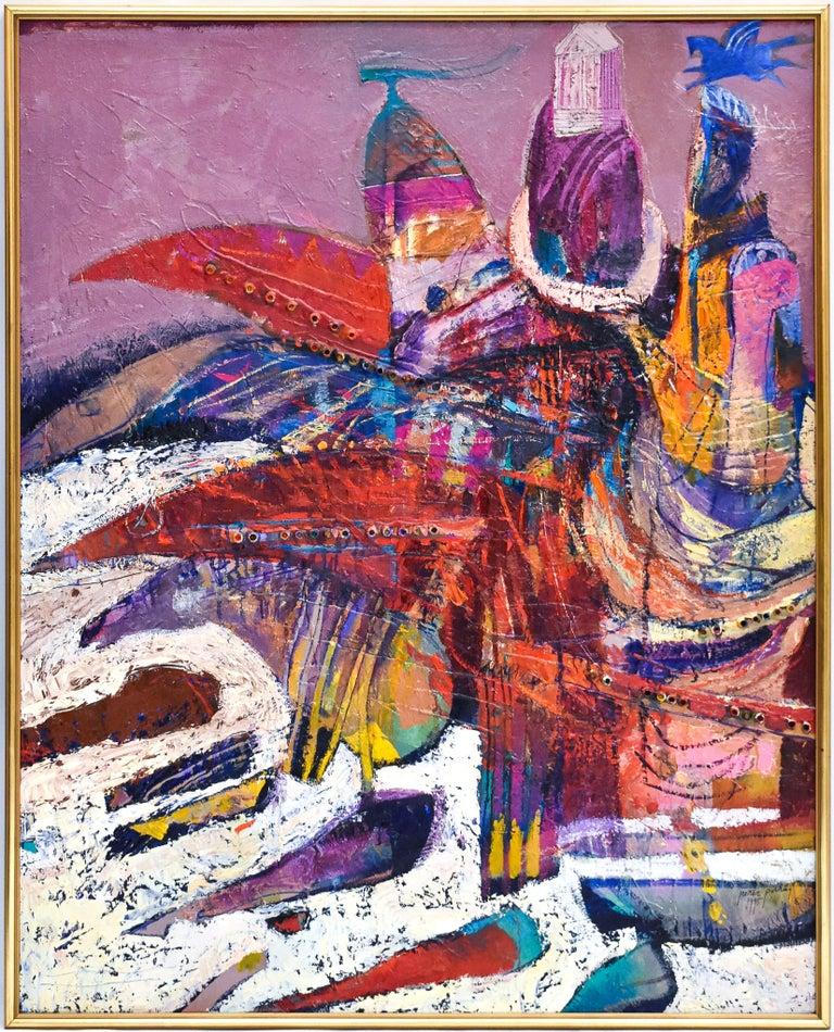 Preteky s Pegasom - Triptych- Peter Pollág - Original artwork For Sale 10