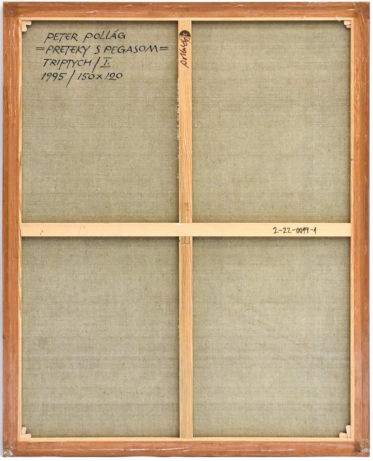 Preteky s Pegasom - Triptych- Peter Pollág - Original artwork For Sale 15