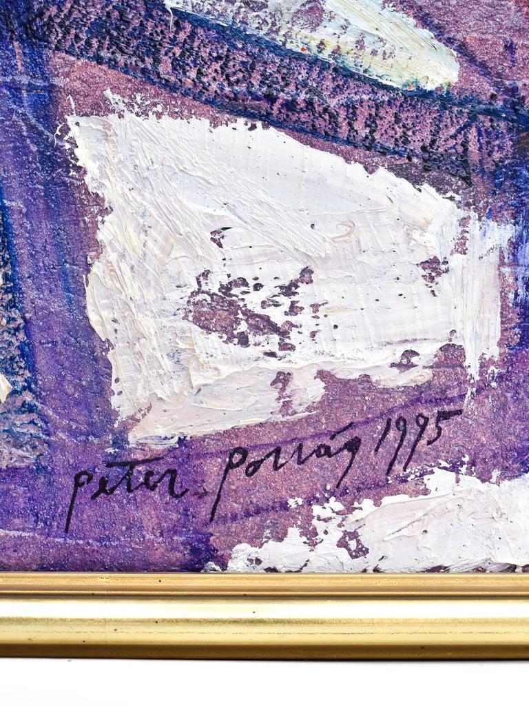 Preteky s Pegasom - Triptych- Peter Pollág - Original artwork For Sale 2