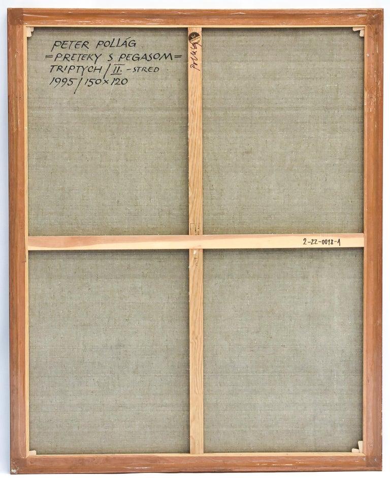 Preteky s Pegasom - Triptych- Peter Pollág - Original artwork For Sale 3