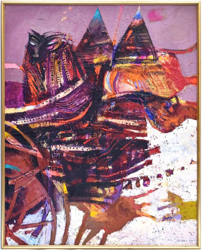 Preteky s Pegasom - Triptych- Peter Pollág - Original artwork For Sale 4