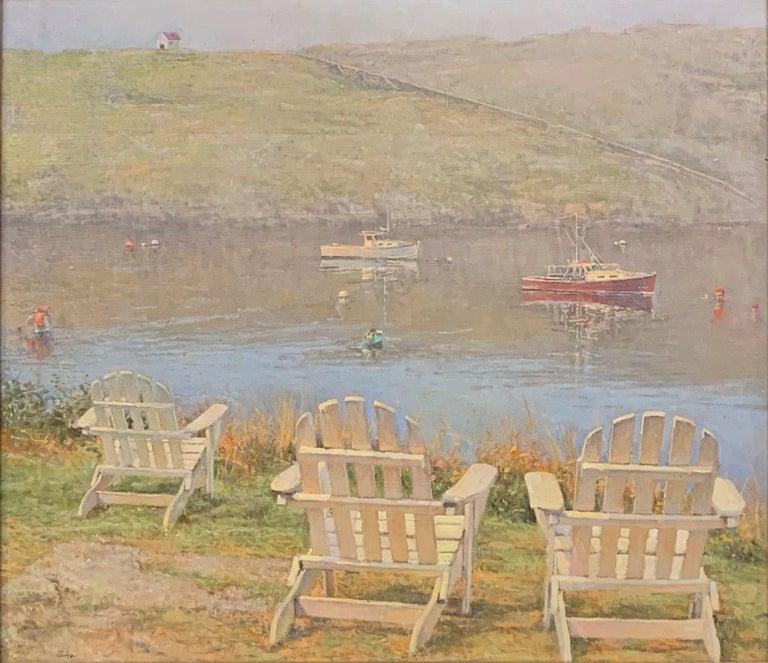 Peter Poskas Landscape Painting - Burning Off
