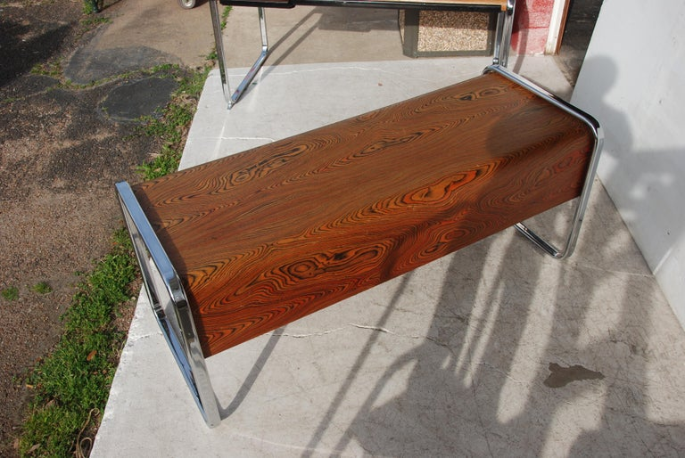 Late 20th Century Peter Protzmann Zebrawood and Chrome Credenza for Herman Miller For Sale