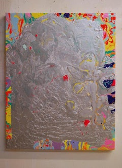 January 24, 2019 silver abstract painting