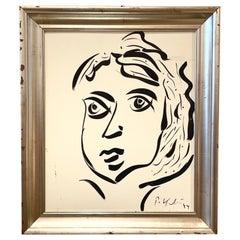 Peter Robert Keil Silver Leaf Framed  Painting on Board 1974