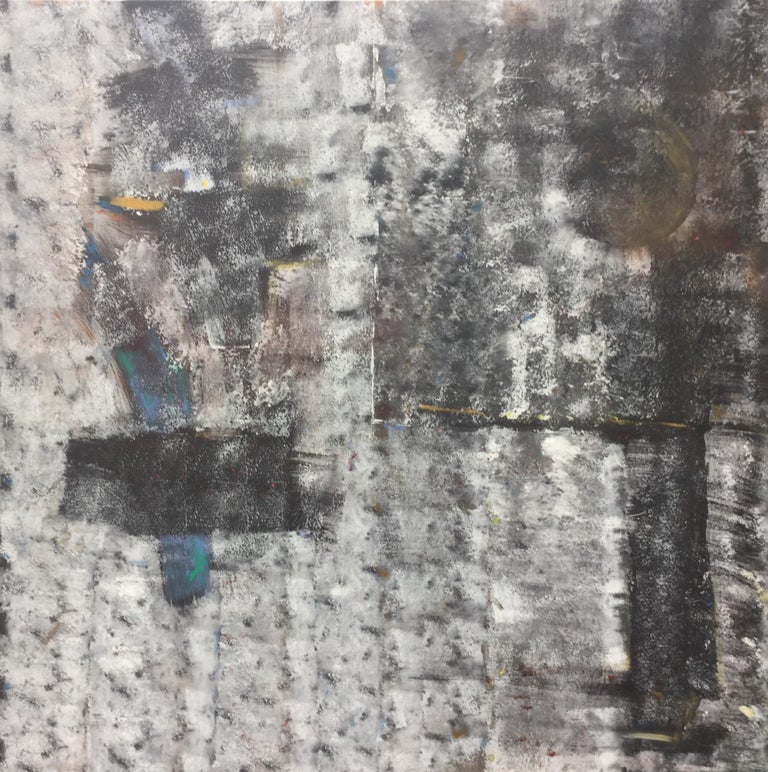 Harbour. Contemporary Mixed Media Painting - Abstract Mixed Media Art by Peter Rossiter