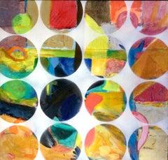 Sixteen.  Contemporary Mixed Media Abstract Painting
