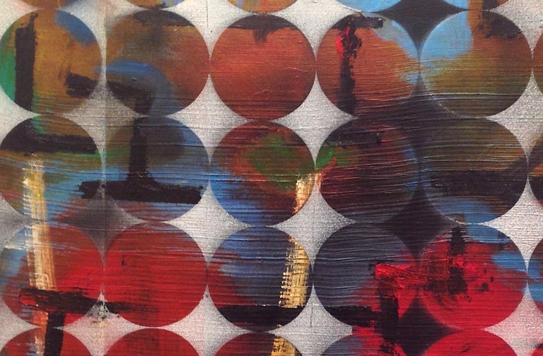 Abacus: Mixed Media Contemporary Painting by Peter Rossiter For Sale 1