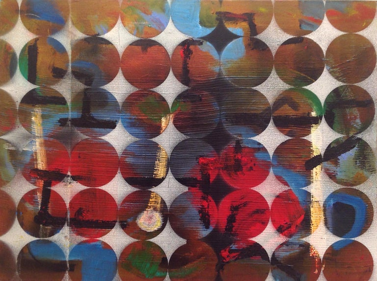 Abacus Mixed media on canvas. New work from his new circle series.