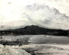 Pellucid Landscape. Contemporary Abstract Expressionist Painting