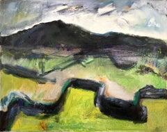 Walled Landscape. Contemporary welsh Abstract Expressionist Landscape Painting