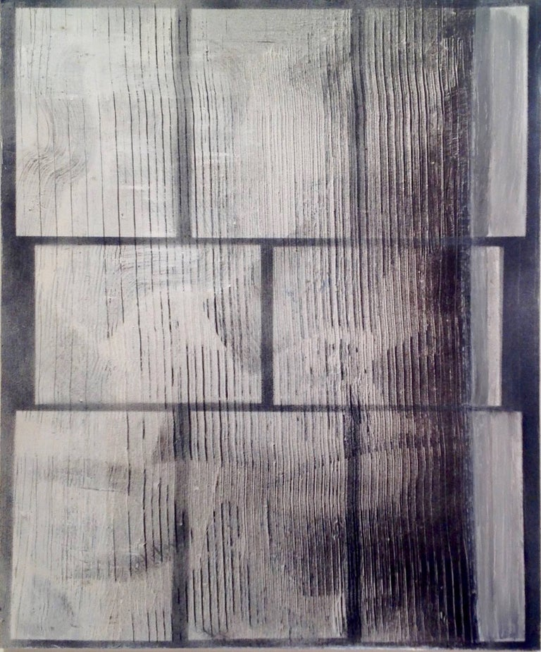"""Monochrome power . Peter's new output is proof of his talent and status as a rising star. Mixed Media on board  25.5"""" x 21.5""""  Image 24"""" x 20"""""""