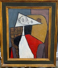 Abstract Figurative Cubism Painting