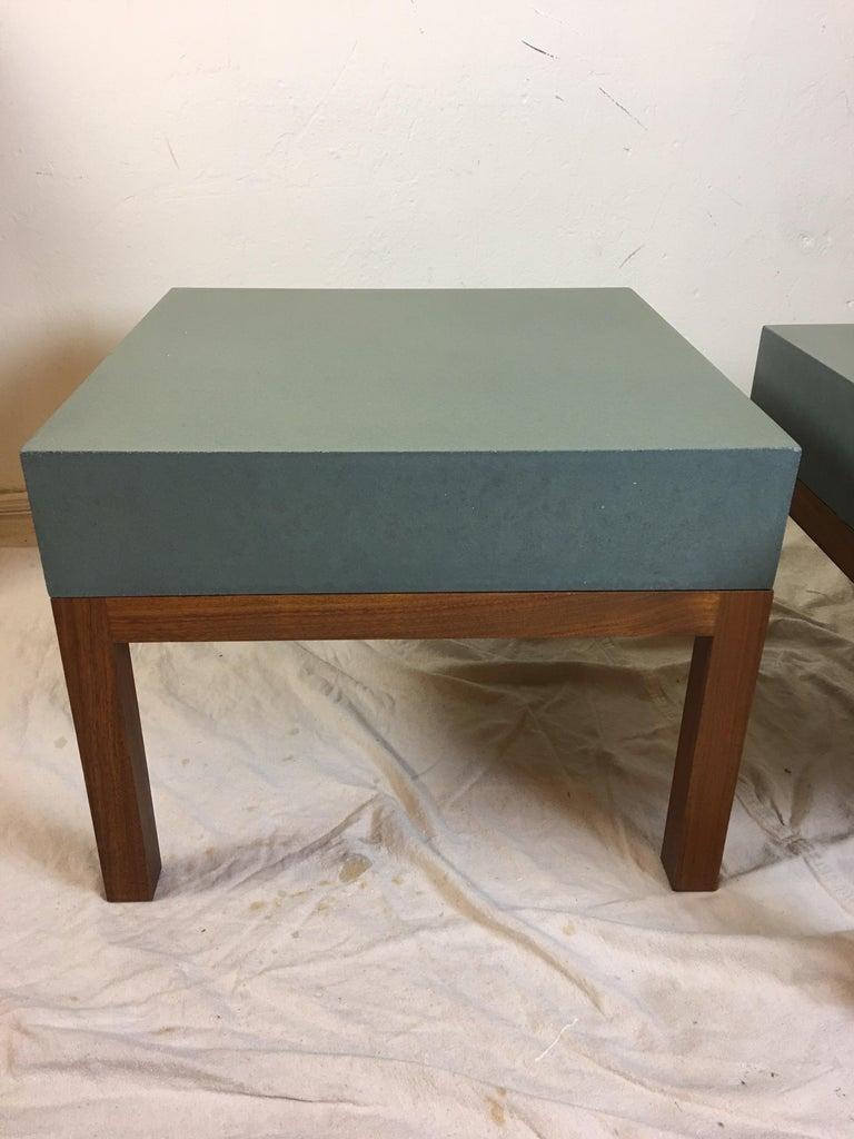 Modern Peter Sandback Cement Composite Tables, 2002 For Sale