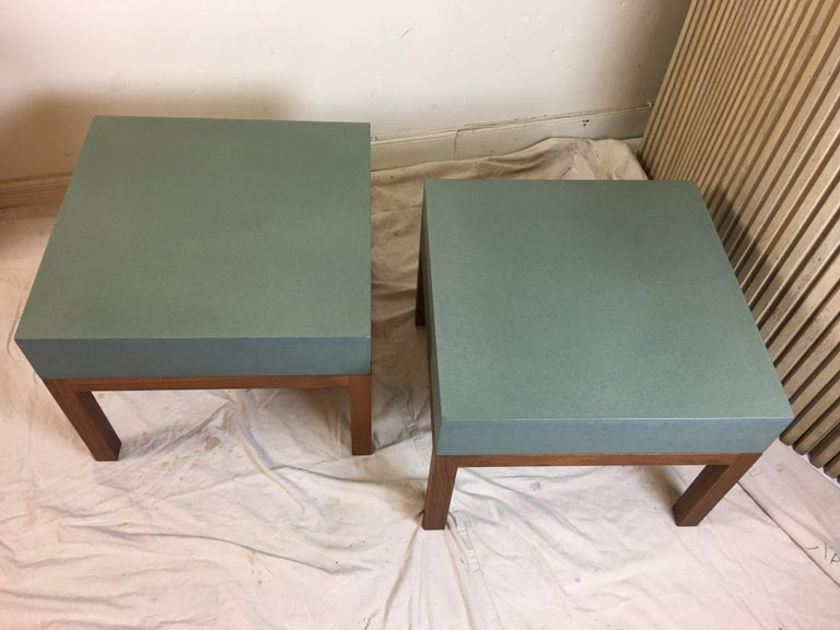American Peter Sandback Cement Composite Tables, 2002 For Sale