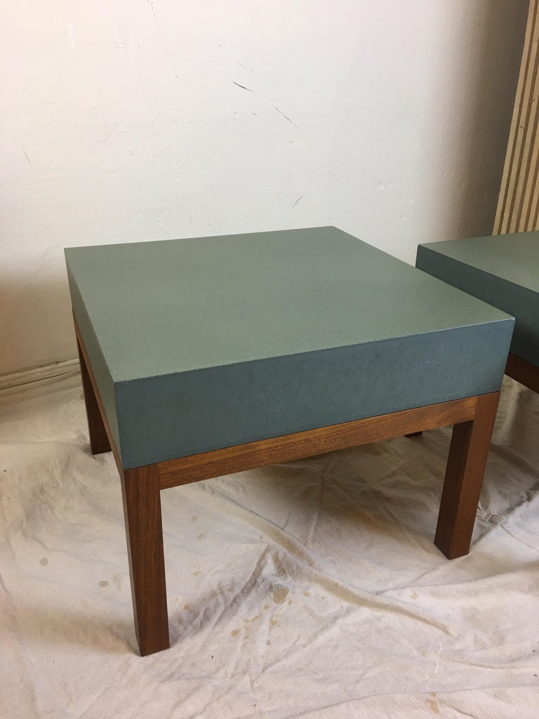 Peter Sandback Cement Composite Tables, 2002 In Good Condition For Sale In Philadelphia, PA