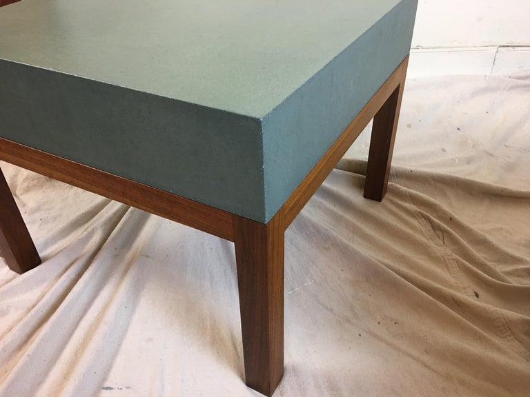 Walnut Peter Sandback Cement Composite Tables, 2002 For Sale