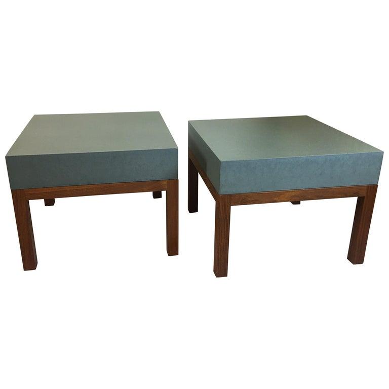 Peter Sandback Cement Composite Tables, 2002 For Sale