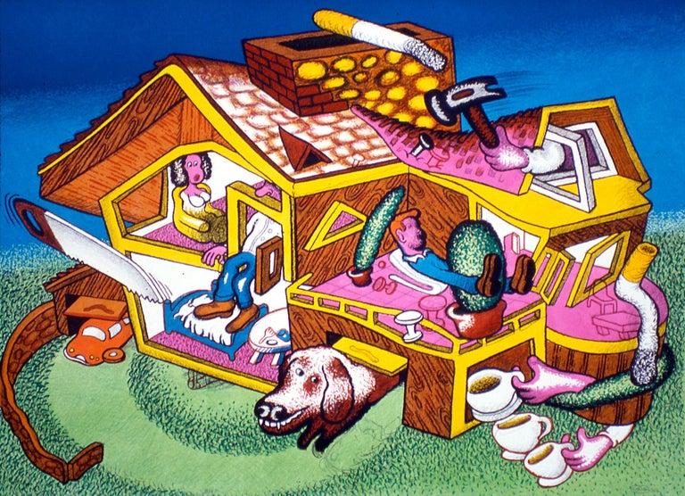 Peter Saul Print - Modern Home