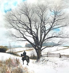 Hilltopper, Signed Limited Edition Lithograph, Equestrian English Riding