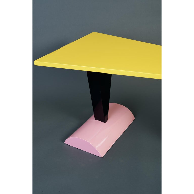 Peter Shire Memphis Milano Brazil Table in Lacquered Wood, Italy, circa 1981 For Sale 4