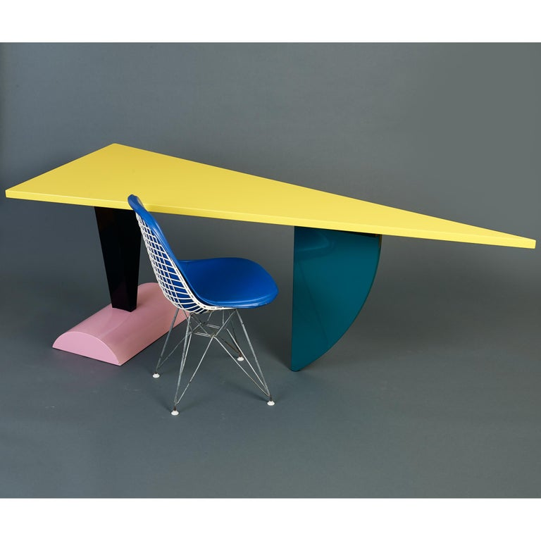 Peter Shire Memphis Milano Brazil Table in Lacquered Wood, Italy, circa 1981 For Sale 5