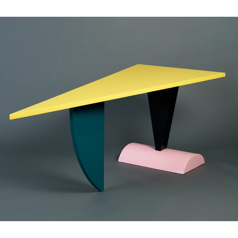 Peter Shire Memphis Milano Brazil Table in Lacquered Wood, Italy, circa 1981 In Good Condition For Sale In New York, NY