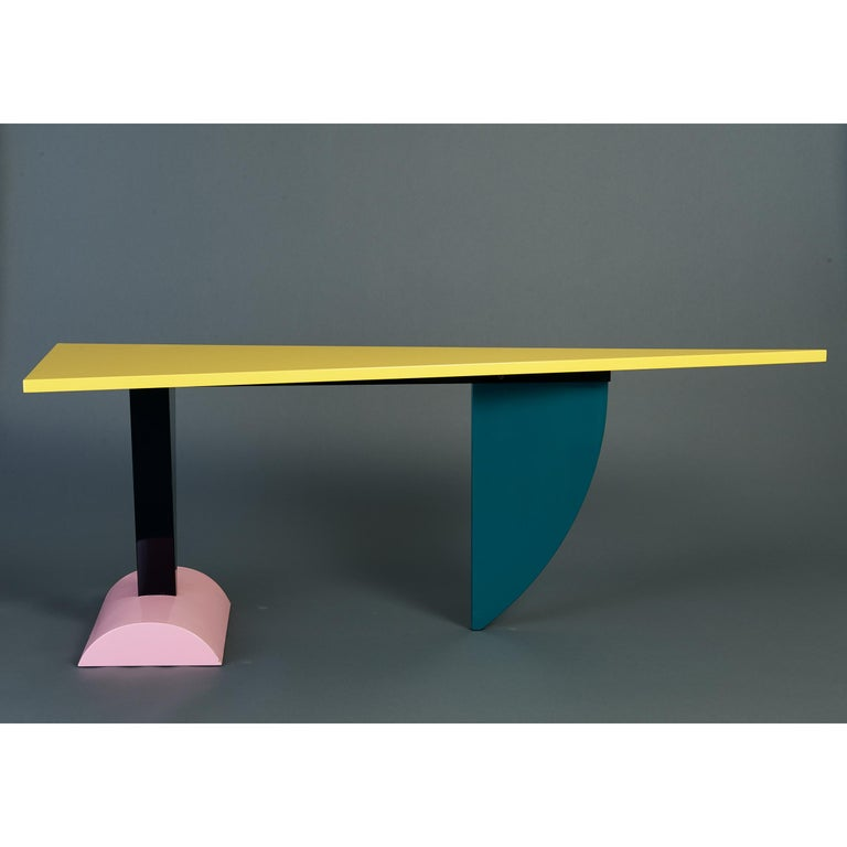 Late 20th Century Peter Shire Memphis Milano Brazil Table in Lacquered Wood, Italy, circa 1981 For Sale