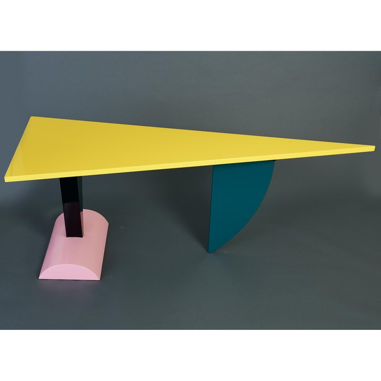 Peter Shire Memphis Milano Brazil Table in Lacquered Wood, Italy, circa 1981 For Sale 1