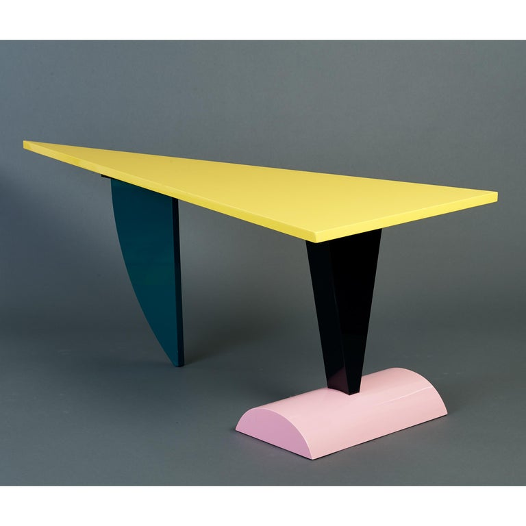 Peter Shire Memphis Milano Brazil Table in Lacquered Wood, Italy, circa 1981 For Sale 2