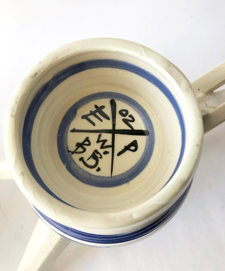 Post-Modern Peter Shire Postmodern Memphis Ceramic Double Spouted Teapot For Sale