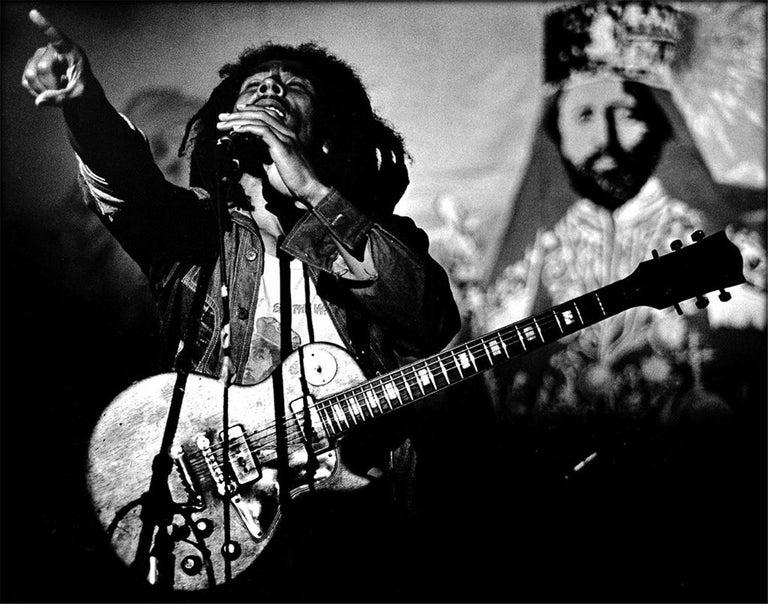 Peter Simon Black and White Photograph - Bob Marley, U.S. Tour, 1976