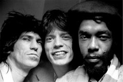 Keith Richards, Mick Jagger, and Peter Tosh, 1978