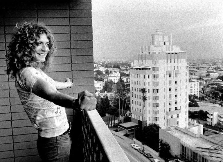 "Peter Simon Black and White Photograph - Robert Plant-""Golden God"""