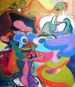 Phanomen Large Oil Painting Abstract Surrealist German Contemporary Art