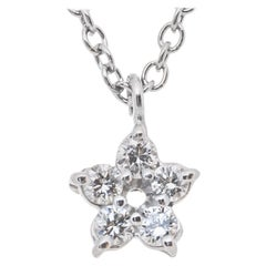 Peter Suchy .10 Carat Diamond Platinum Star Pendant Necklace