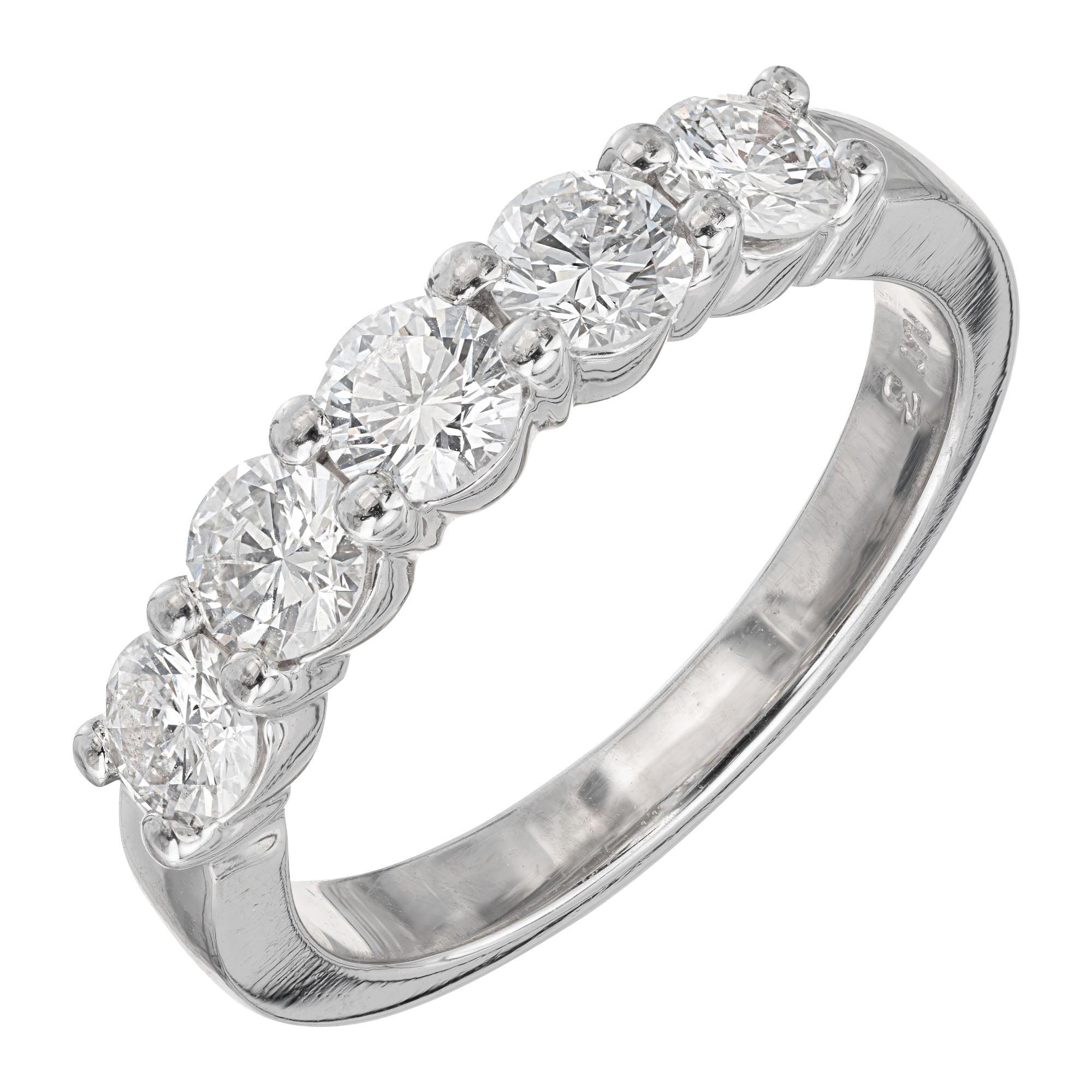 Peter Suchy 1.00 Carat Diamond Platinum Wedding Band