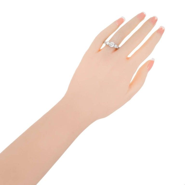 Peter Suchy 1.00 Carat Diamond Three-Stone Platinum Engagement For Sale 1