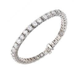 Peter Suchy 11.00 Carat Diamond Gold Tennis Gold Bracelet